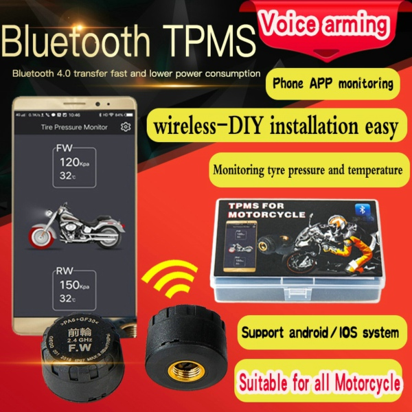 Motorcycle bluetooth TPMS