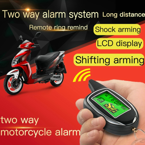 Two way motorcycle alarm